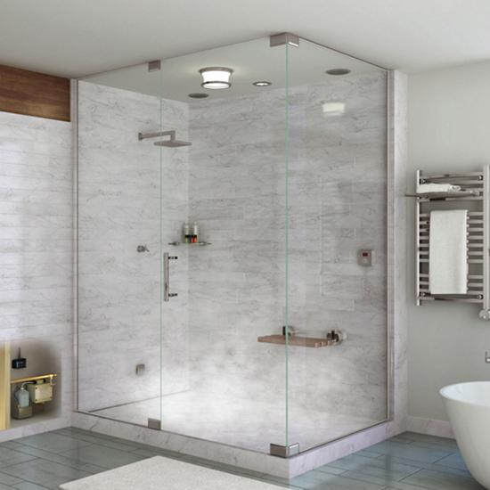 Vách kính phòng tắm mở quay vuông góc