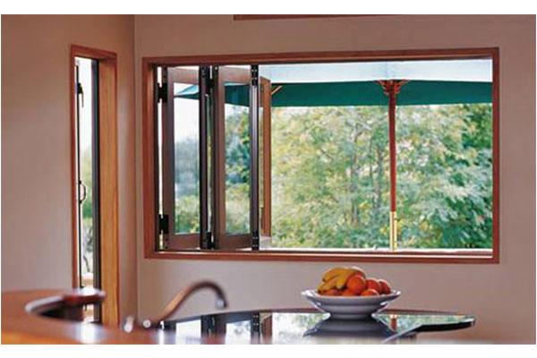mẫu cửa sổ nhôm Việt pháp màu vân gỗ