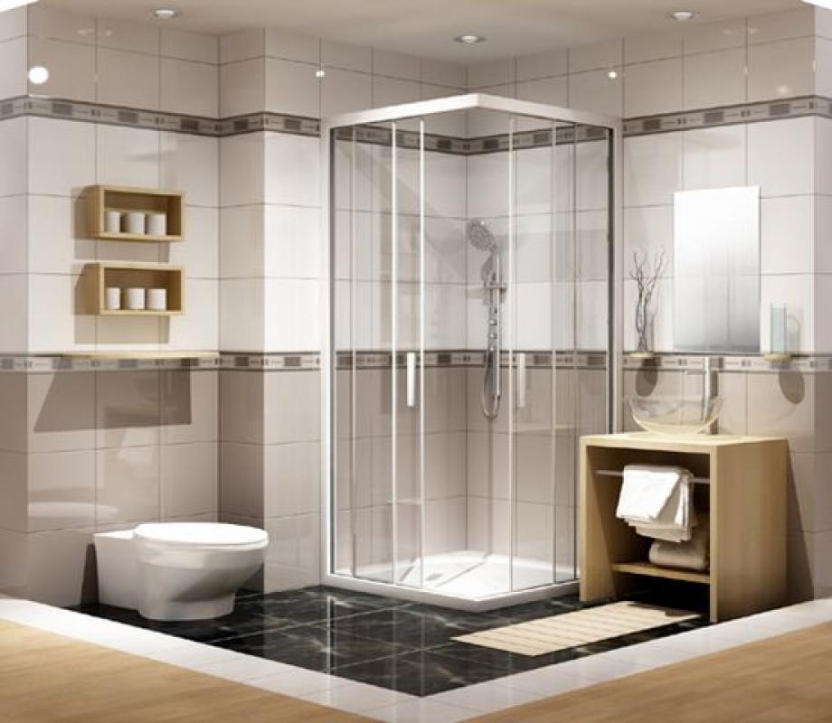 mẫu vách kính phòng tắm vát góc 135 độ