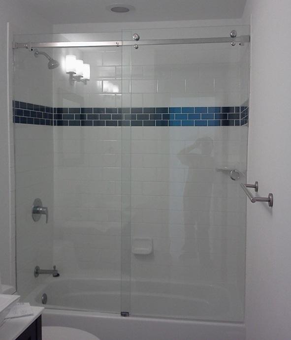 cửa kính nhà tắm cửa trượt lùa