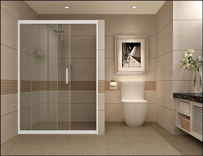 vách kính phòng tắm cửa lùa