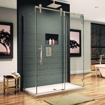 Vách kính phòng tắm cửa trượt lùa