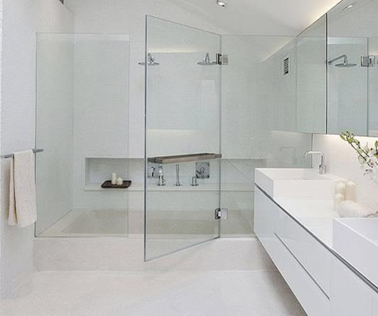 mẫu vách kính phòng tắm mở quay 180 độ