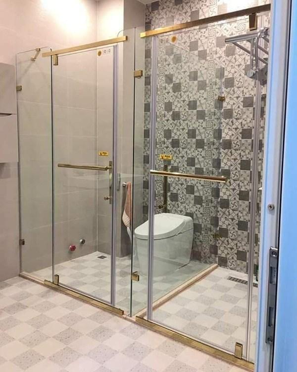 Báo giá vách kính toilet, wc tại Hà Nội