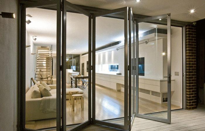 Top 3 mẫu cửa kính lùa xếp gấp đẹp thời thượng dành cho công trình