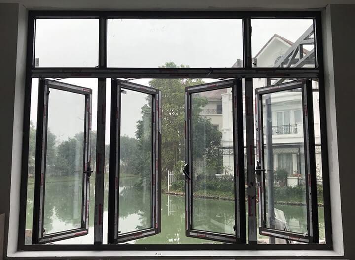 Báo giá cửa sổ nhôm Xingfa mở quay