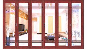 Báo giá cửa nhôm Xingfa vân gỗ NXF005